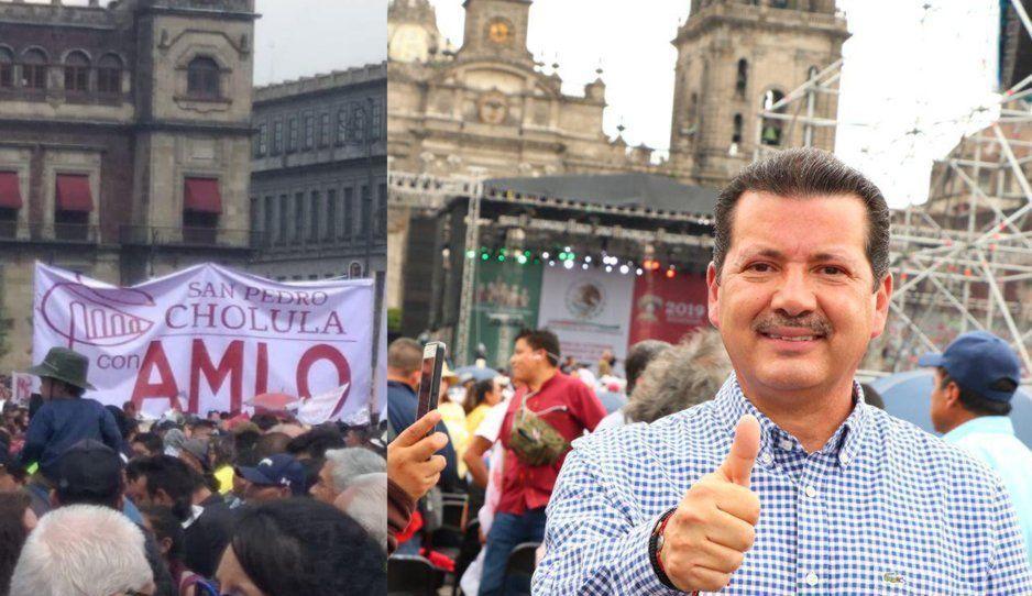 ¡Hipócrita! Arriaga promueve a su gobierno en evento de AMLO a pesar de su traición a Morena