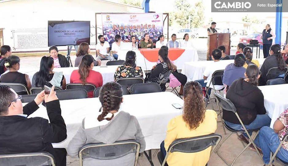 Gobierno de Teziutlán promueve derechos de las mujeres indígenas