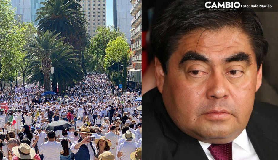 Hipócritas: llama Barbosa a opositores que se manifestaron contra AMLO