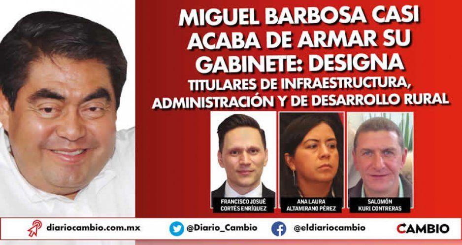 Perfiles: ex funcionarios de Sagarpa, Casa de Moneda y AICM, al gabinete de Barbosa