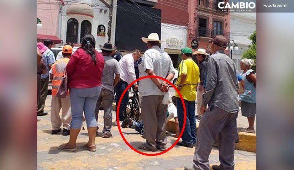 ¡Hijo de la…! Ladrón le quita su dinero a indigente discapacitado en Izúcar
