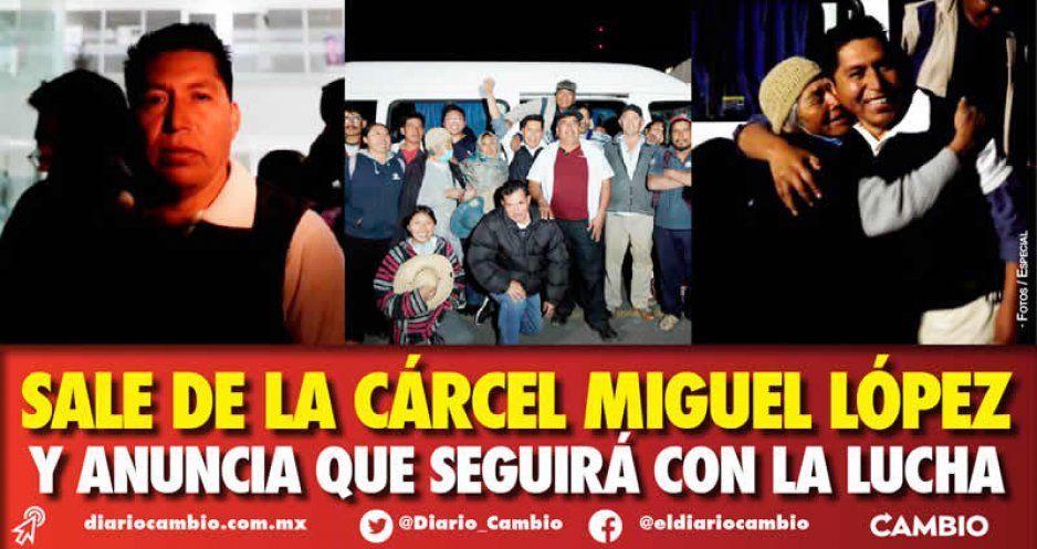 """Liberan al """"activista"""" Miguel López y promete seguir luchando vs el colector (VIDEO)"""