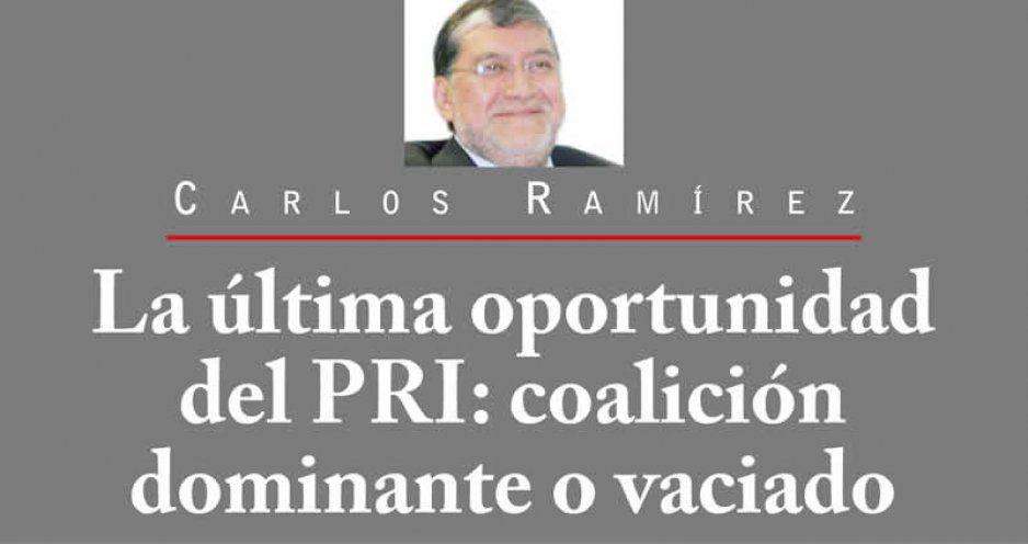 La última oportunidad del PRI: coalición dominante o vaciado