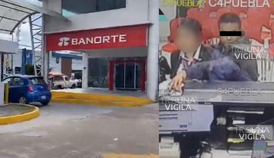 Durante asalto, rata toma de rehén a cajera en sucursal Banorte de Plaza del Sol (VIDEO)