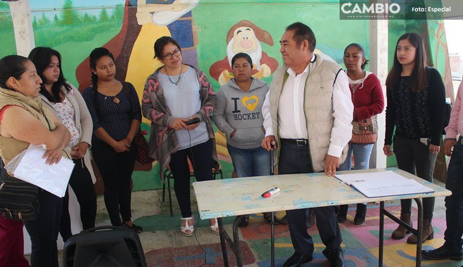 Mario de la Rosa apuesta a la educación; sigue mejorando infraestructura en escuelas de Amozoc