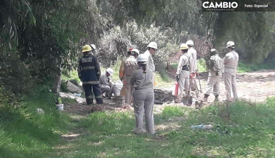 Sellan fuga de gas por robo de hidrocarburo en Coronango