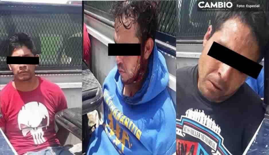 Tras persecución, detienen a tres asaltantes de transeúnte en Ocotepec