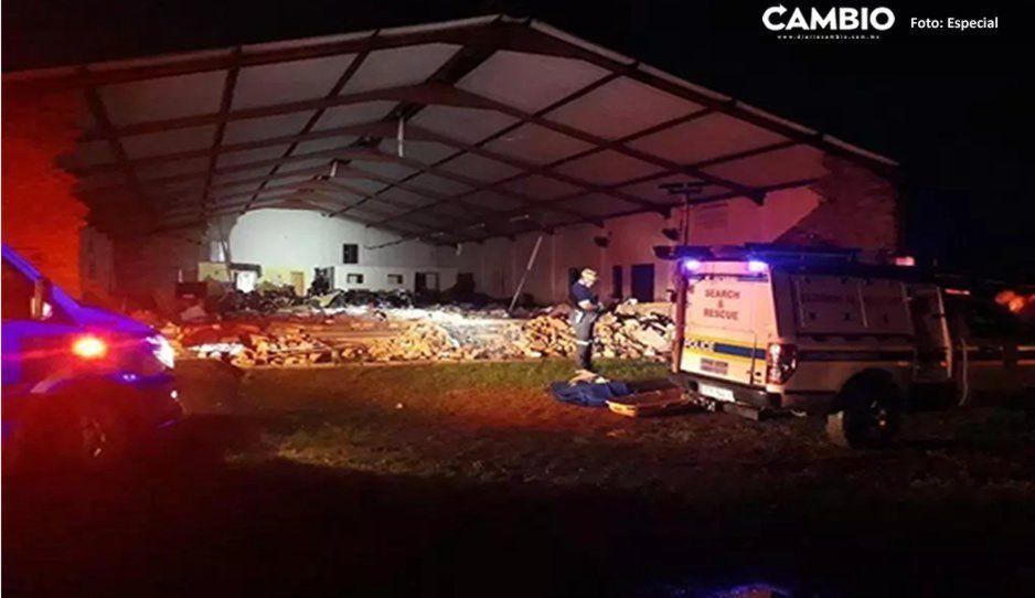 Colapsa iglesia en plena celebración de Semana Santa y deja 13 muertos