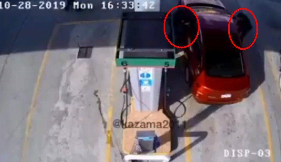 VIDEO: Siguieron a cuentahabiente hasta asaltarlo en gasolinera de Tepeaca