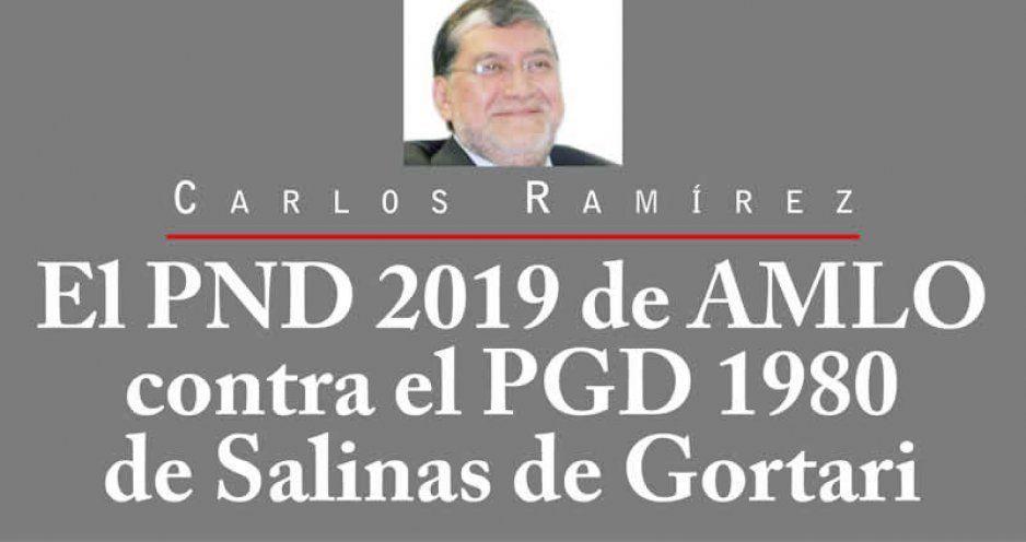 El PND 2019 de AMLO contra el PGD 1980 de Salinas de Gortari