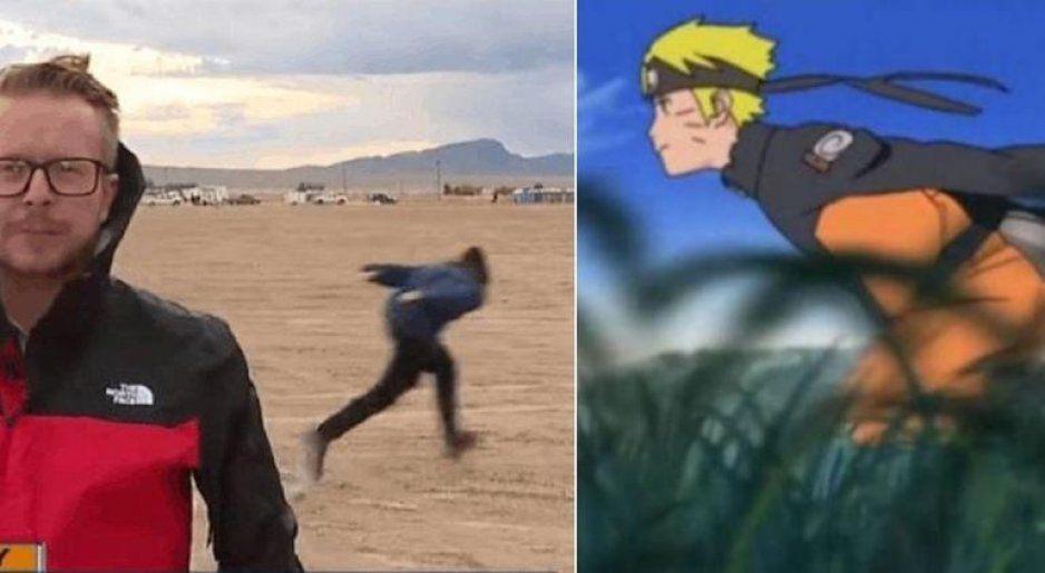 Chaval se vuelve viral por correr como Naruto en Área 51 (VIDEO)
