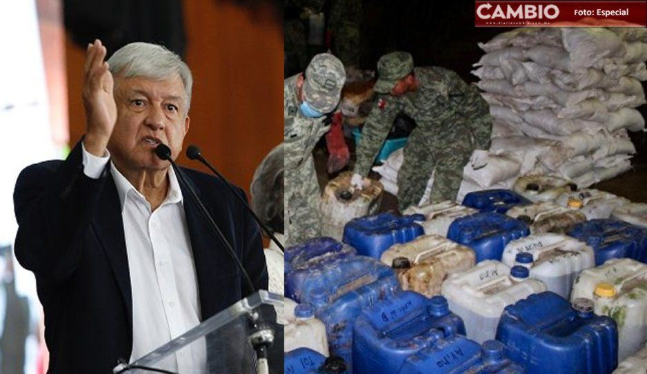 Revela AMLO que en narcolaboratorio de Tehuitzingo cocinaban estupefacientes con veneno