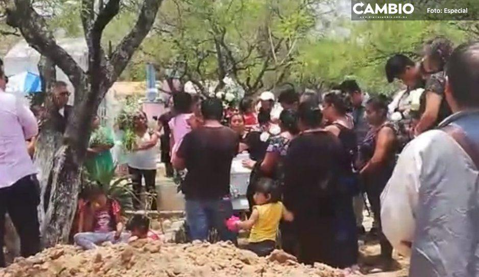 Sepultan a Nadia, niña de 4 años atacada por pitbull en Tehuacán