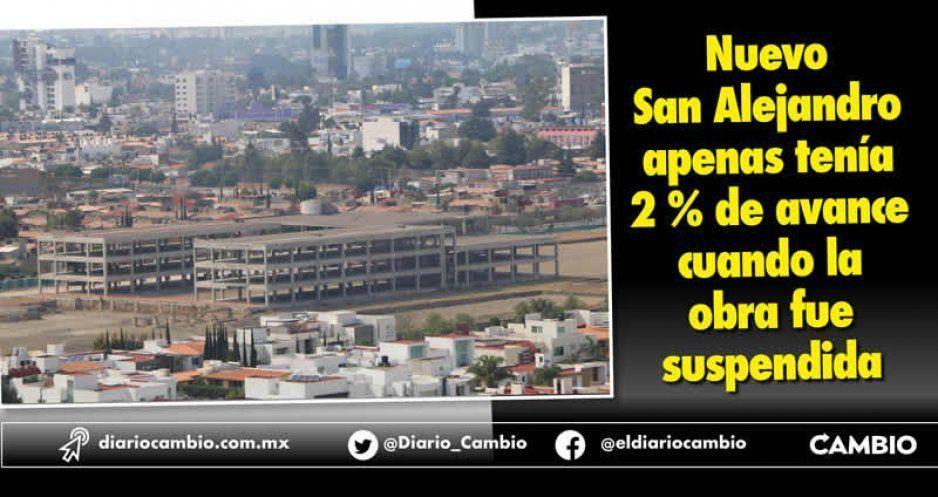 Nuevo San Alejandro apenas tenía 2 % de avance cuando la obra fue suspendida