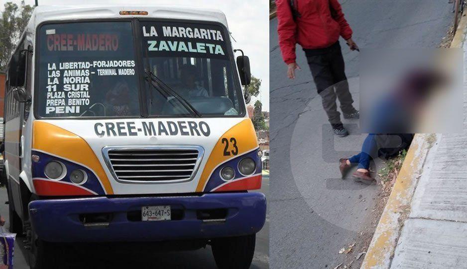 Asalto violento a ruta Cree-Madero: pasajera se avienta de la unidad al escuchar disparos