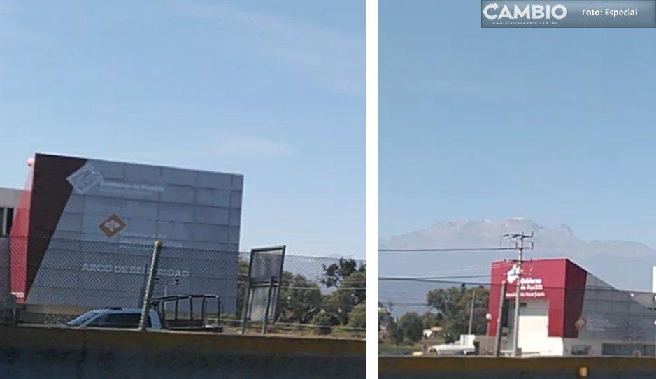 Borran huella del morenovallismo en el Arco de Seguridad de Huejotzingo