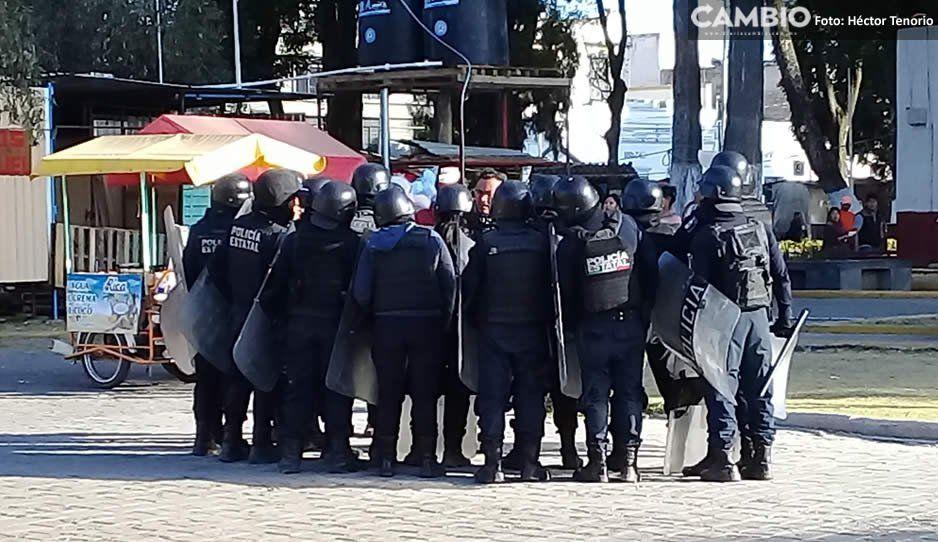Policía estatal y delincuente resultan lesionados durante intento de linchamiento en Huejotzingo