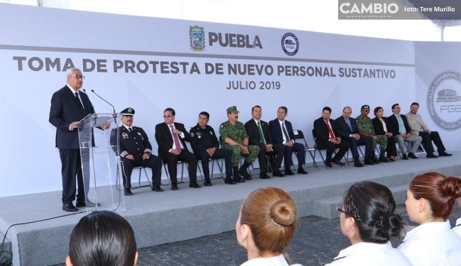 Pacheco Pulido toma protesta a 625 nuevos agentes de la Fiscalía General del Estado