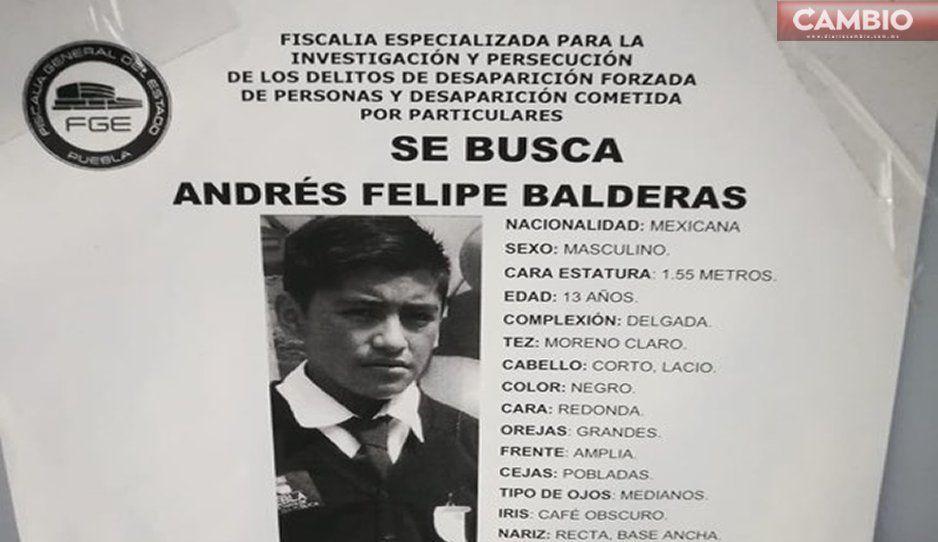 Andrés Felipe Balderas lleva 12 días desaparecido, ¡ayúdalo a regresar a casa!