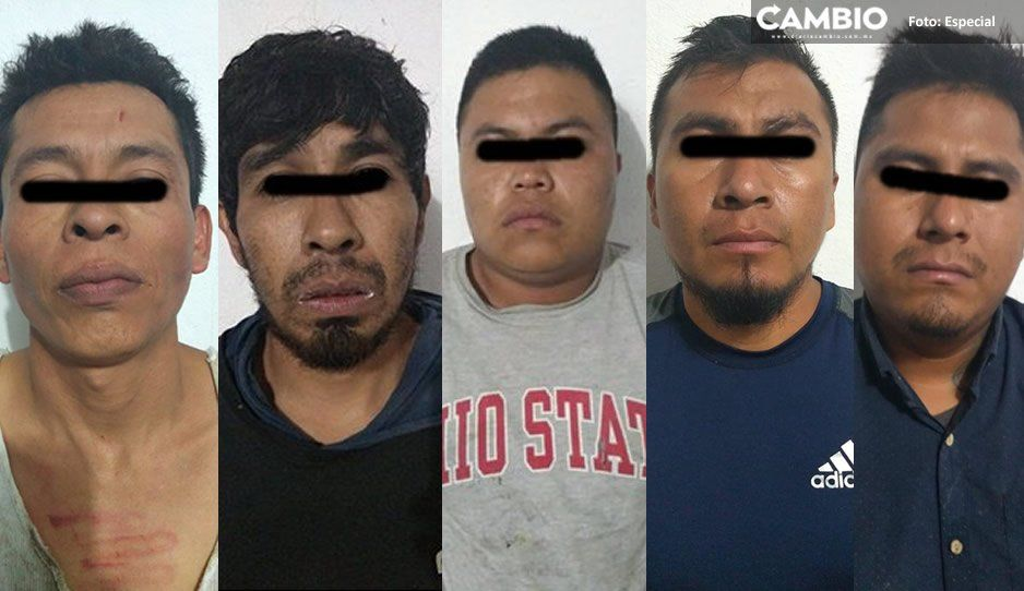 Detienen a cinco presuntos asesinos de policía de barrio en Tehuacán