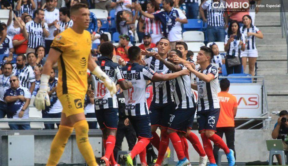 Club Puebla vuelve a la realidad: cae  ante Rayados en la Sultana del Norte