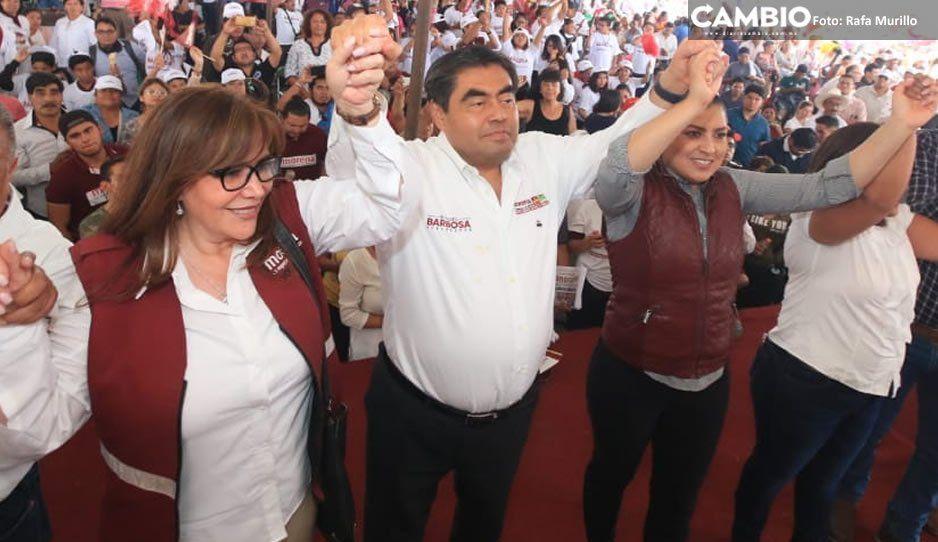 Barbosa se compromete a trabajar de la mano de Claudia para impulsar las juntas auxiliares