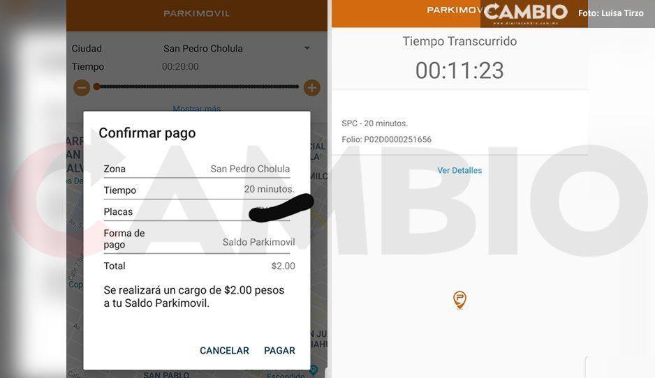 Sigue el robo de Parkimovil a usuarios de la APPen San Pedro y San Andrés Cholula