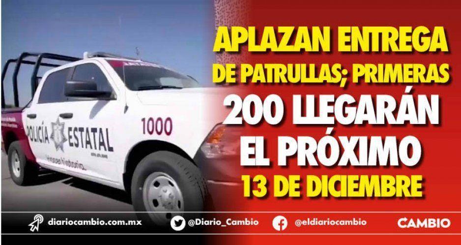 Entrega de 200 patrullas de las Mil, hasta el 13 de diciembre; arrendadora ha incumplido