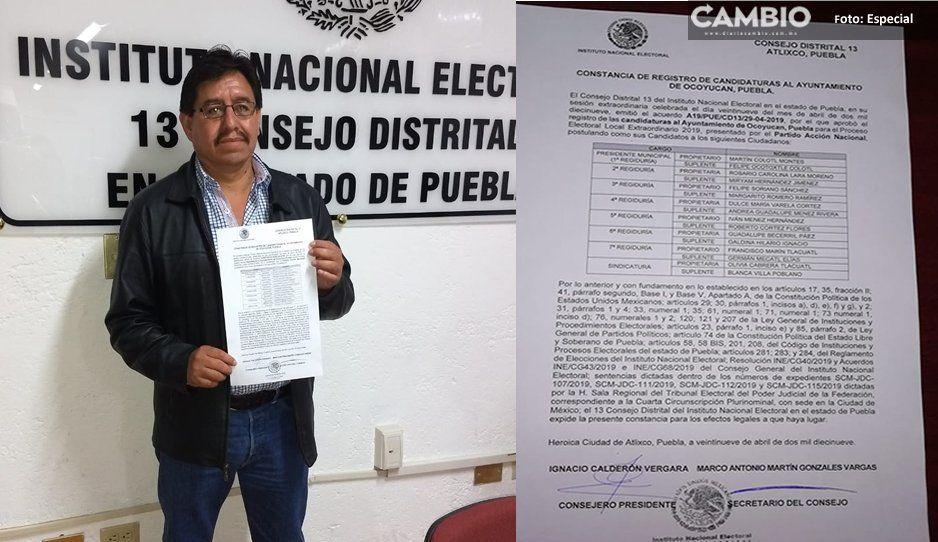 Es oficial, Martín Cololt es el candidato del PAN en Ocoyucan