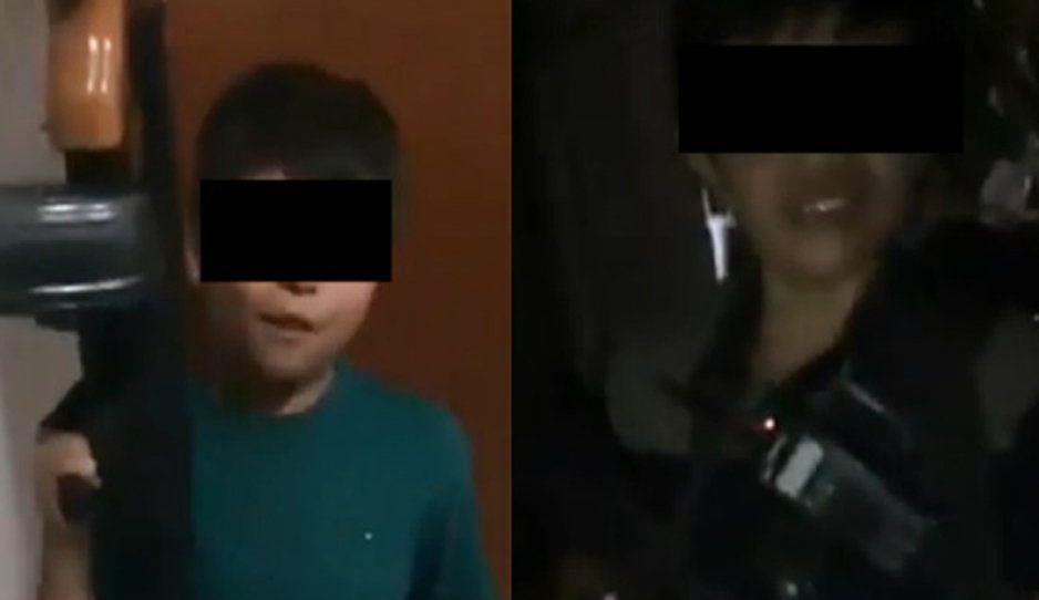 Niños amenazan y se pelean con armas de alto calibre para divertir a sicarios (VIDEO)