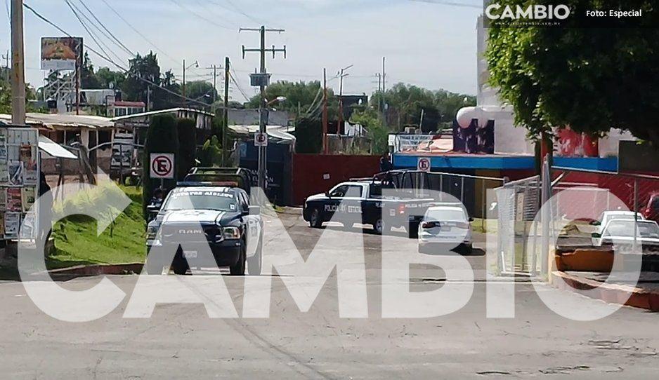 Tras detención de un sujeto, policías estatales y GN resguarda seguridad pública de Texmelucan (VIDEO)