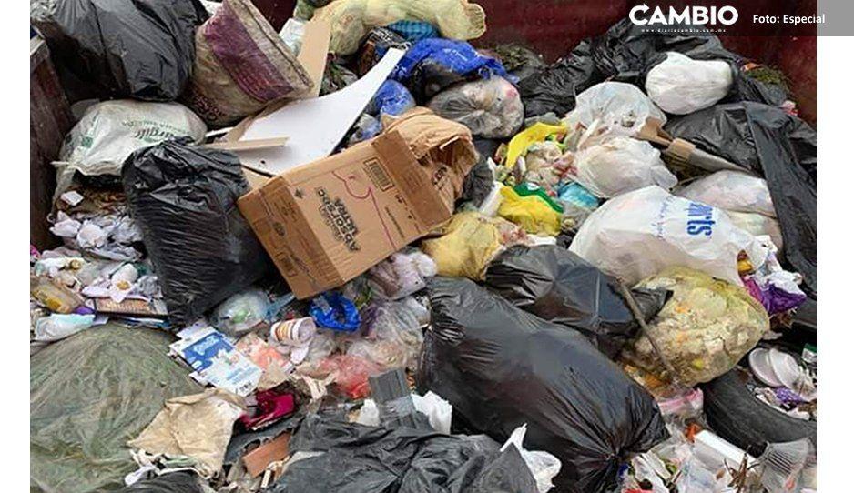¡Un cochinero! Usan terrenos de basurero en Huejotzingo