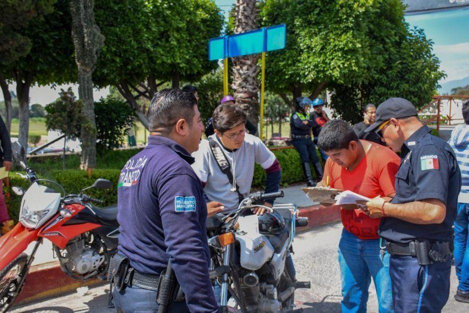 Continúa Ayuntamiento de Texmelucan campaña por la seguridad de los motociclistas