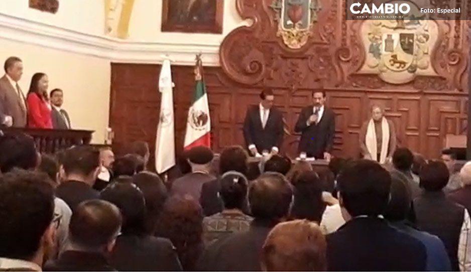Esparza toma protesta a Guadalupe Grajales como secretaria General de la BUAP