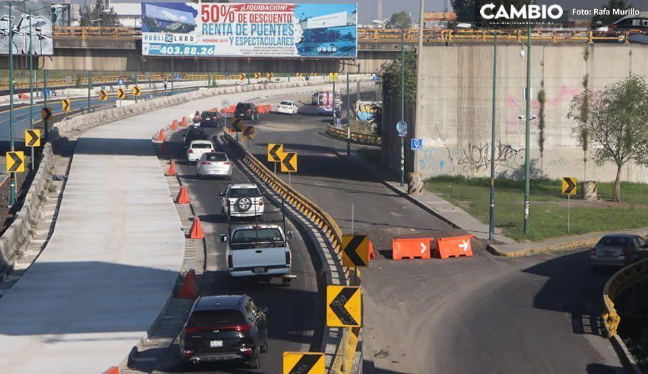 Continúa el caos vial en el Periférico Ecológico: cierran sentido a la Atlixcáyotl (FOTOS)