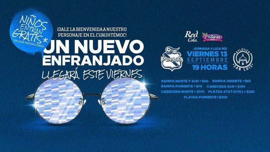 Todos los poblonitos entrada gratis para el Puebla vs Atleti San Luis