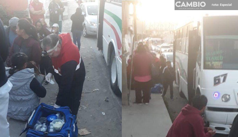 Por echar carreritas, choferes de la R67 chocan y se lesionan 11 personas en Chachapa