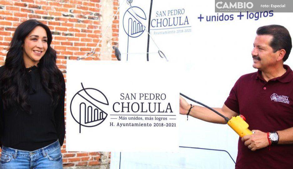 Colocan primera piedra de ampliación de CAIC  de San Diego Cuachayotla en San Pedro Cholula