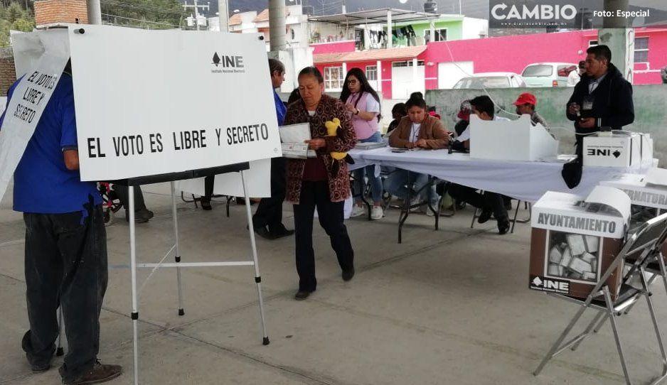 Elecciones en Ocoyucan, Mazapiltepec de Juárez, Tepeojuma, Ahuazotepec y Cañada Morelos se desarrollan en paz y con afluencia de votantes