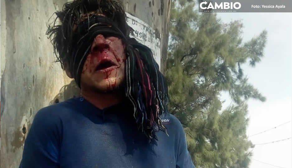 Ladrón se salva de ser linchado por  pobladores de Santa Isabel Cholula