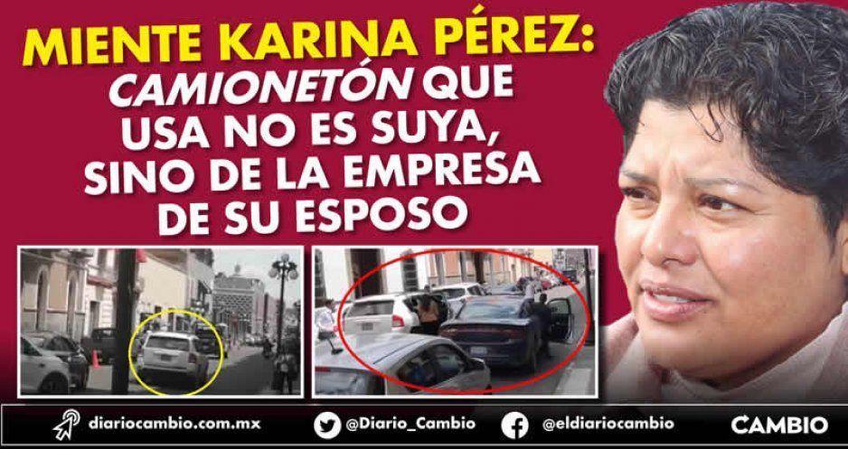 Karina Pérez Popoca usa camionetón de la empresa de su esposo (VIDEOS)
