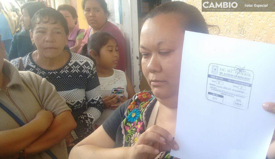 Piden renuncia de comité de padres de familia en secundaria de Texmelucan