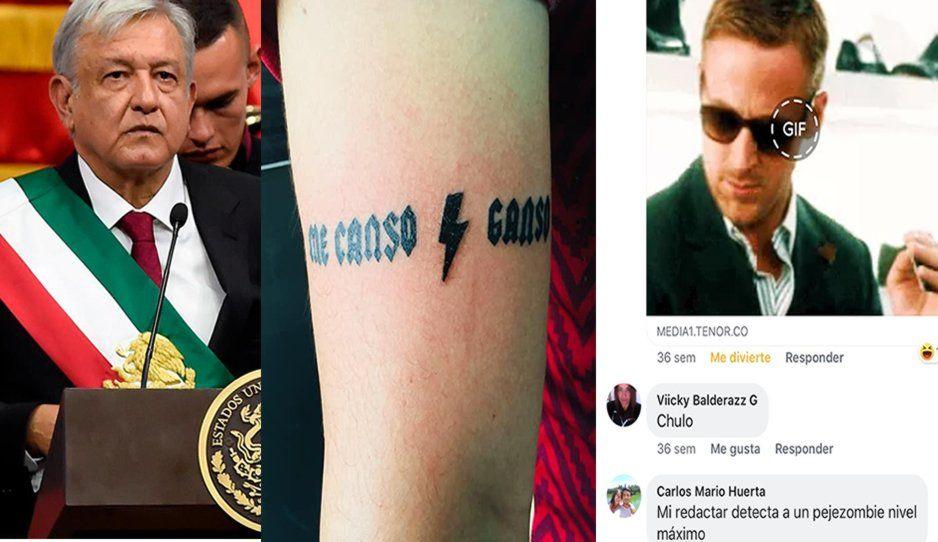 Poblano se tatúa en el brazo el Me Canso Ganso de AMLO y lo revientan en redes (FOTOS)