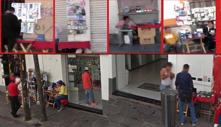 Ambulantes ignoran a Claudia y siguen vendiendo celulares robados en la 8 poniente