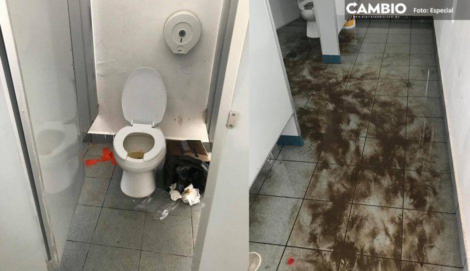 ¡Prepárate para vomitar! Así de asquerosos tienen los baños en el Parque Amalucan (FOTOS)