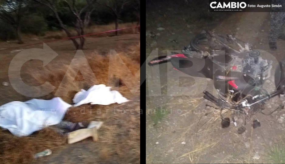Terrible accidente deja dos muertos y un herido en carretera La Colorada -Tepexi de Rodríguez
