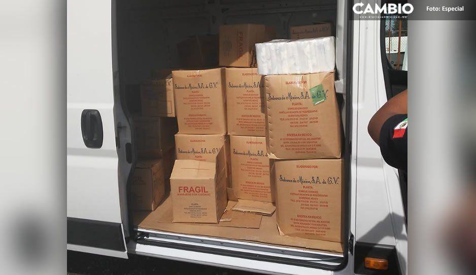 Policía municipal de Texmelucan recupera camioneta con mercancía