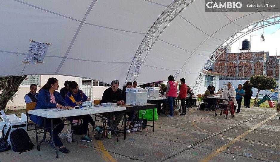 Reportan incidentes en casillas de las Cholulas, en 2 de ellas extraviaron material electoral