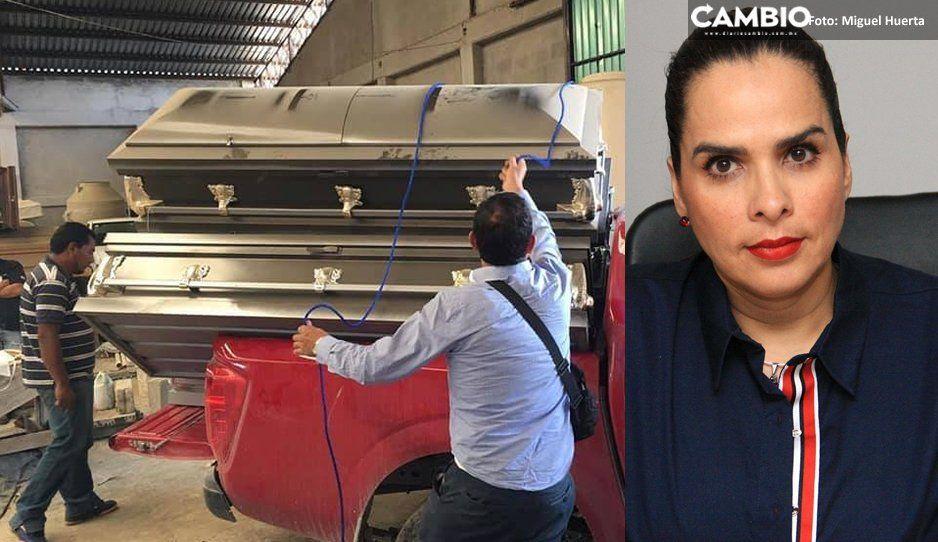 Descubren bodega con ataúdes en Huauchinango de la diputada Liliana Luna