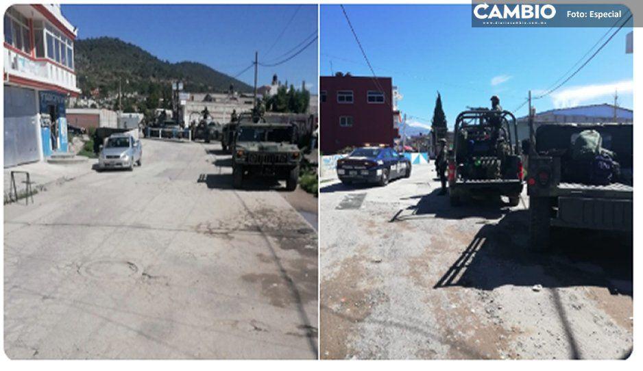 ¡Cuidado malandrines! El Ejército Mexicano y Fuerzas Federales están en Amozoc